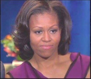 First Lady, Michelle Obama, tells blacks to just vote Democrat and have some fried chicken.